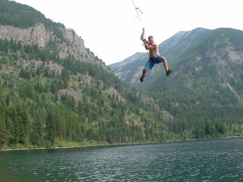 Holland Lake Rope Swing